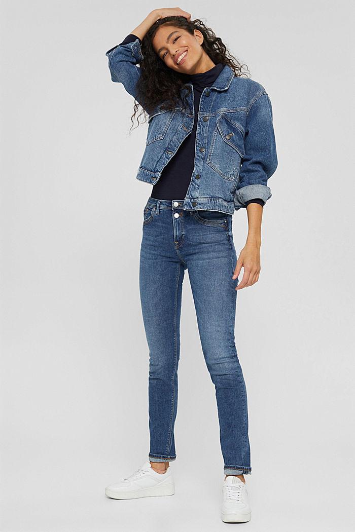 Stretch-Jeans aus Bio-Baumwolle, BLUE MEDIUM WASHED, detail image number 1
