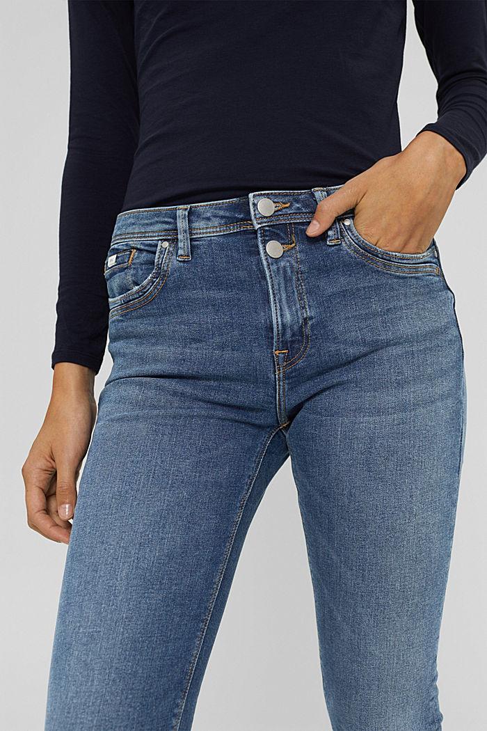 Stretch-Jeans aus Bio-Baumwolle, BLUE MEDIUM WASHED, detail image number 2