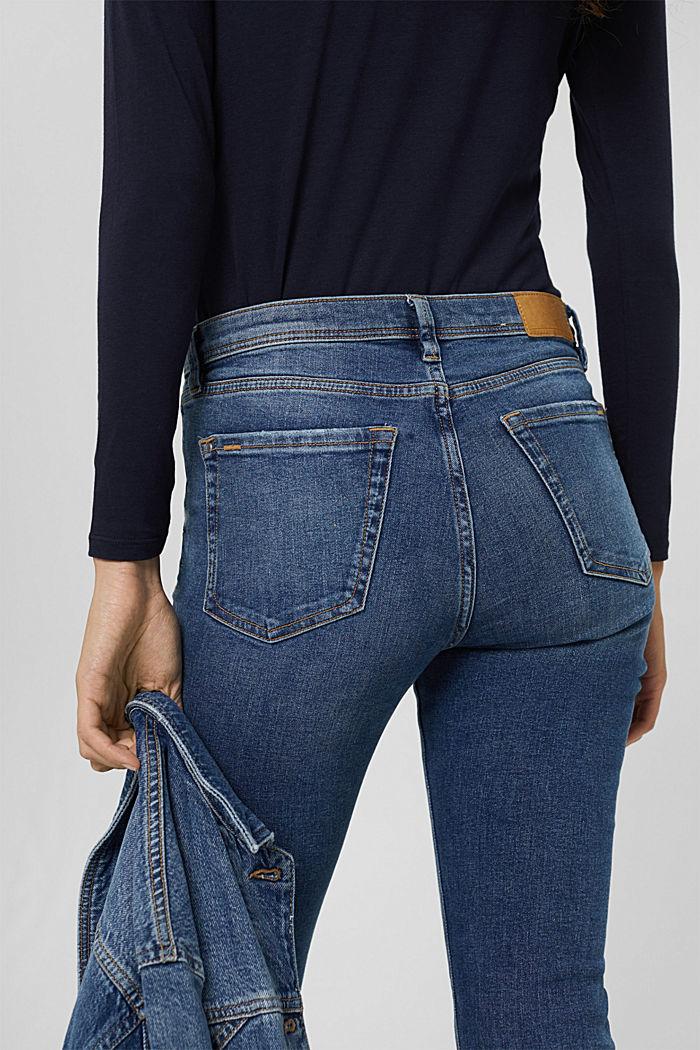 Stretch-Jeans aus Bio-Baumwolle, BLUE MEDIUM WASHED, detail image number 5