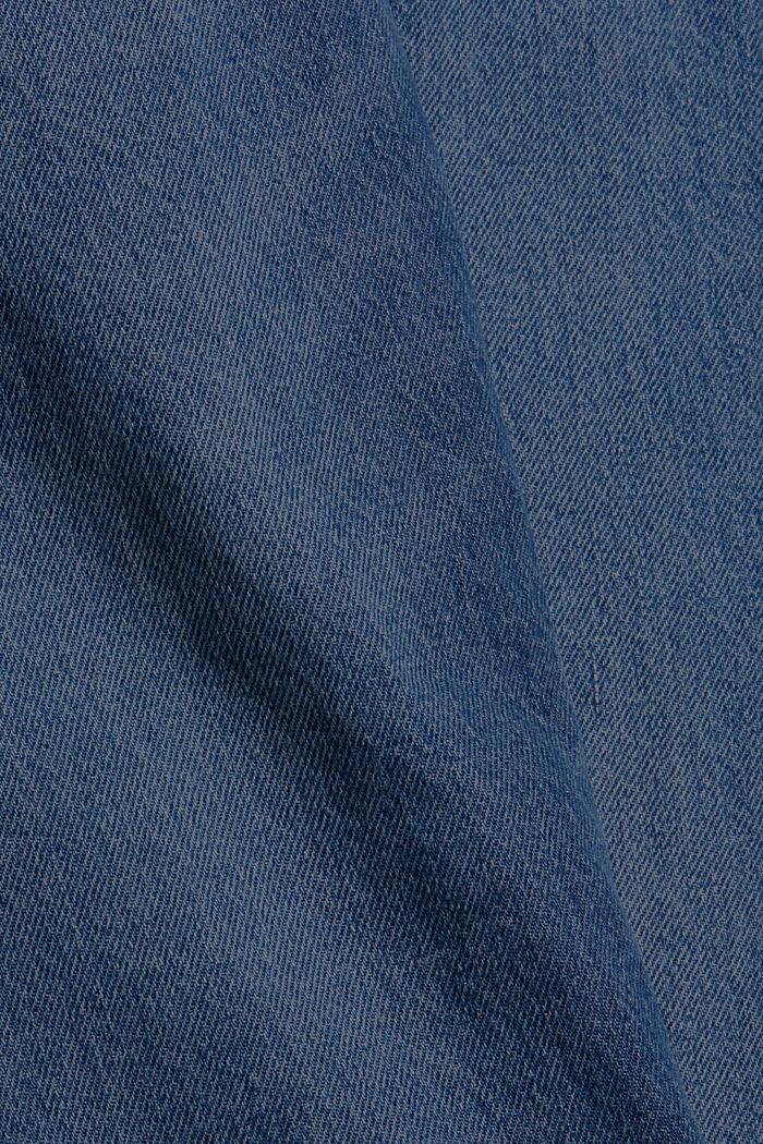 Jean boyfriend en coton bio, BLUE DARK WASHED, detail image number 4