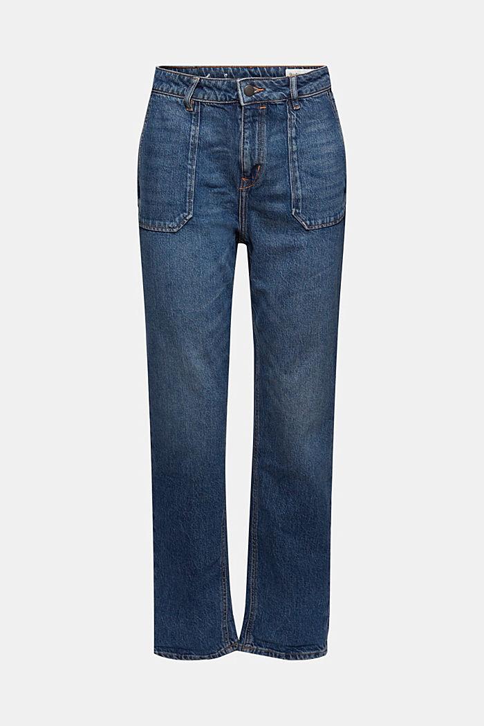 Boyfriend-jeans af økologisk bomuld