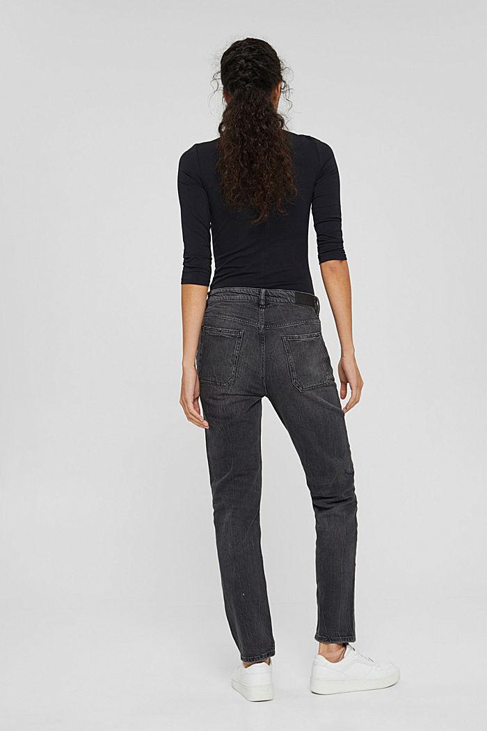 Boyfriend-Jeans aus Organic Cotton, BLACK DARK WASHED, detail image number 3