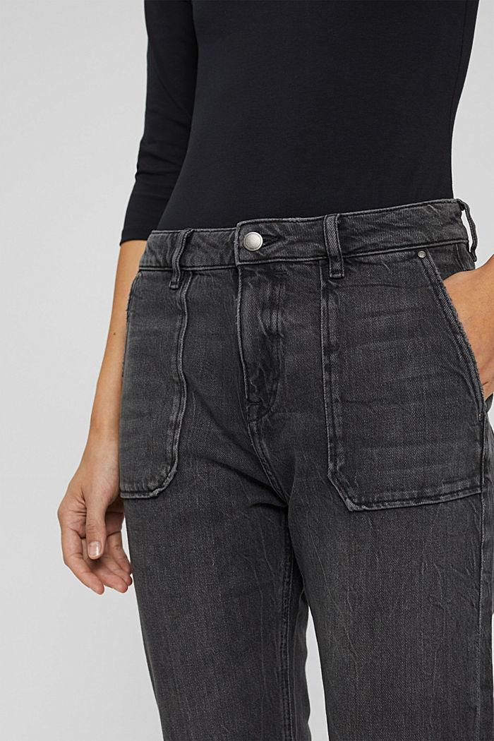 Boyfriend-Jeans aus Organic Cotton, BLACK DARK WASHED, detail image number 2