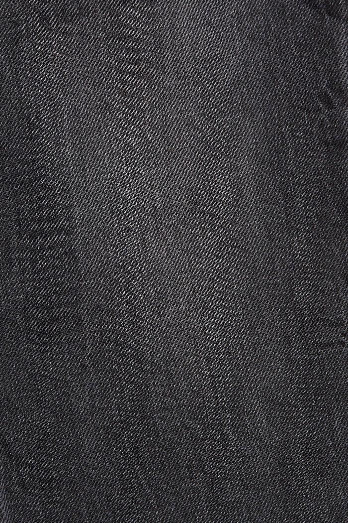 Boyfriend-Jeans aus Organic Cotton, BLACK DARK WASHED, detail image number 4