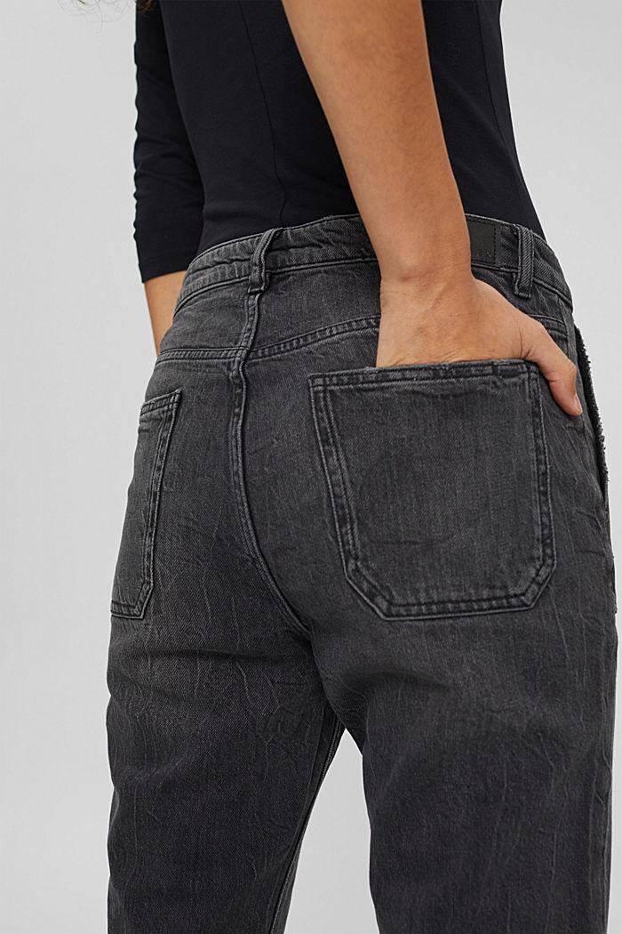 Boyfriend-Jeans aus Organic Cotton, BLACK DARK WASHED, detail image number 5