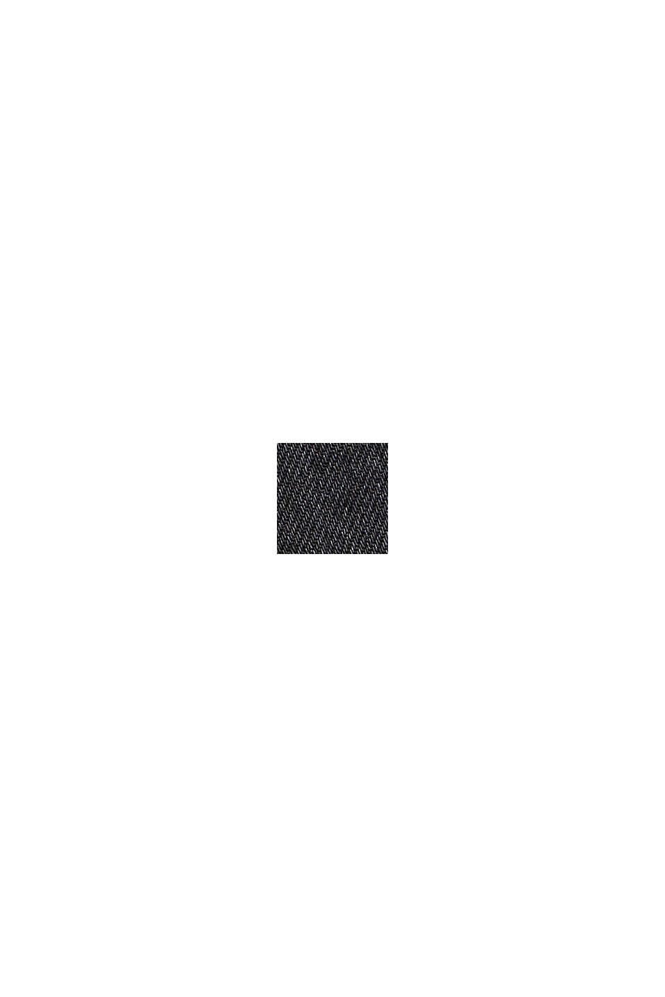 Vaqueros de estilo masculino de algodón ecológico, BLACK DARK WASHED, swatch