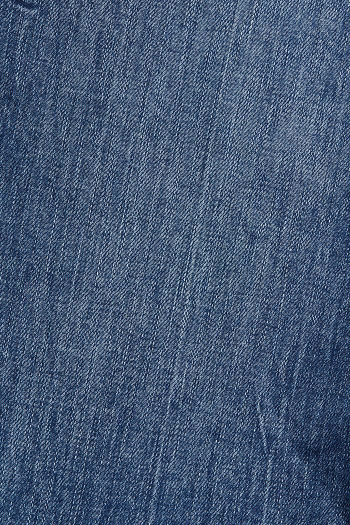 Jean tendance à pinces, coton biologique, BLUE MEDIUM WASHED, detail image number 4