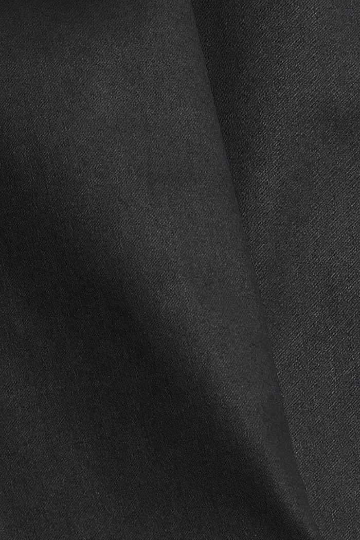 Stretchbroek met coating, BLACK, detail image number 4