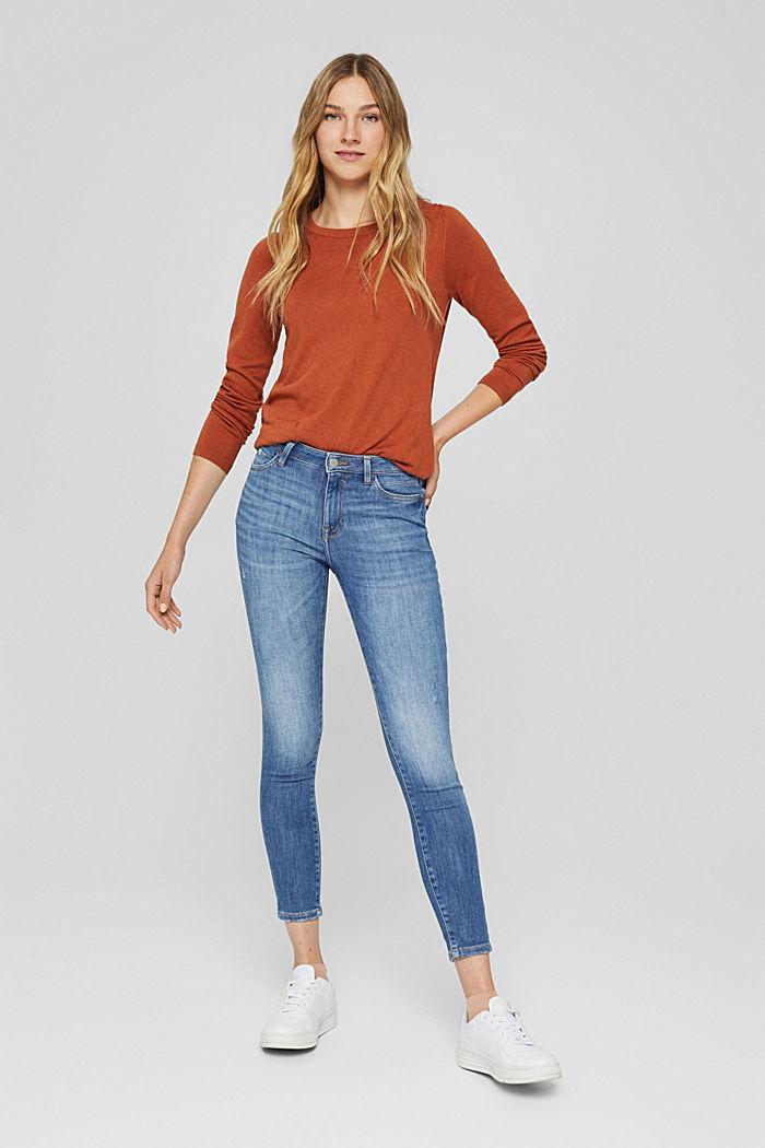 Jeans aus Bio-Baumwolle mit Superstretch, BLUE MEDIUM WASHED, detail image number 0