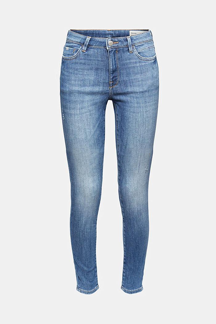 Jeans aus Bio-Baumwolle mit Superstretch, BLUE MEDIUM WASHED, detail image number 6