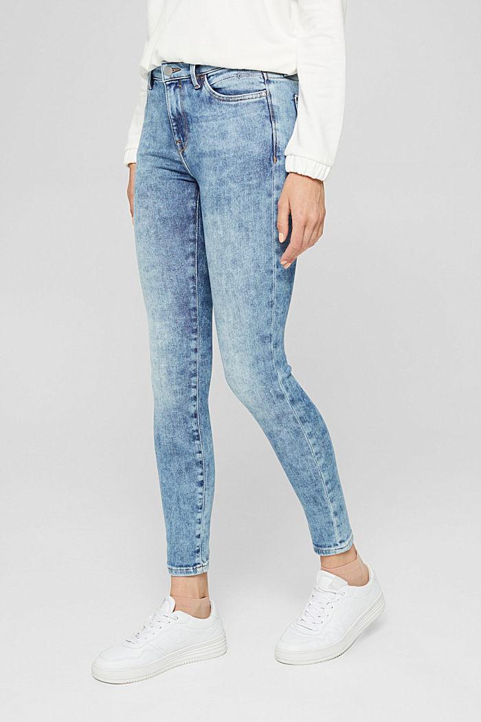 Jeans van biologisch katoen met superstretch, BLUE LIGHT WASHED, detail image number 0