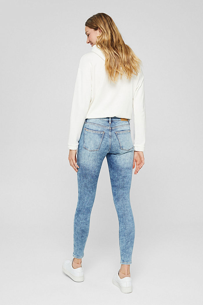 Jeans van biologisch katoen met superstretch, BLUE LIGHT WASHED, detail image number 3