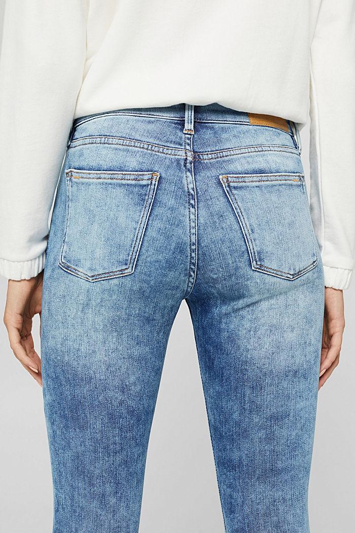 Jeans van biologisch katoen met superstretch, BLUE LIGHT WASHED, detail image number 2