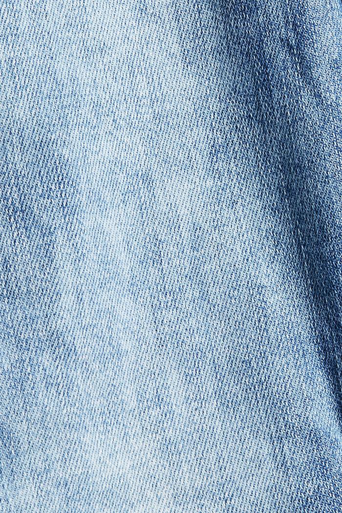 Jeans van biologisch katoen met superstretch, BLUE LIGHT WASHED, detail image number 4