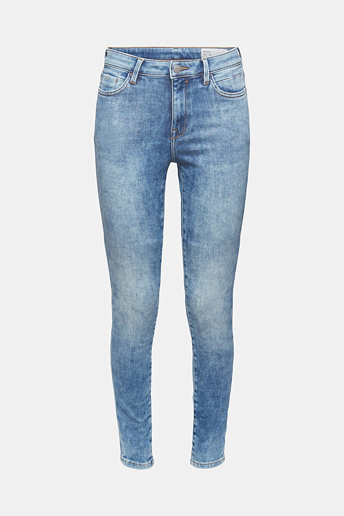 Jeans van biologisch katoen met superstretch, BLUE LIGHT WASHED, detail image number 5