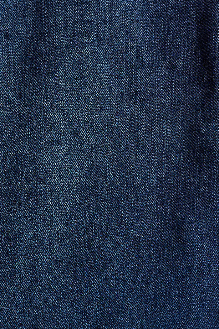 Pants denim Jogger Medium Rise, BLUE DARK WASHED, detail image number 4