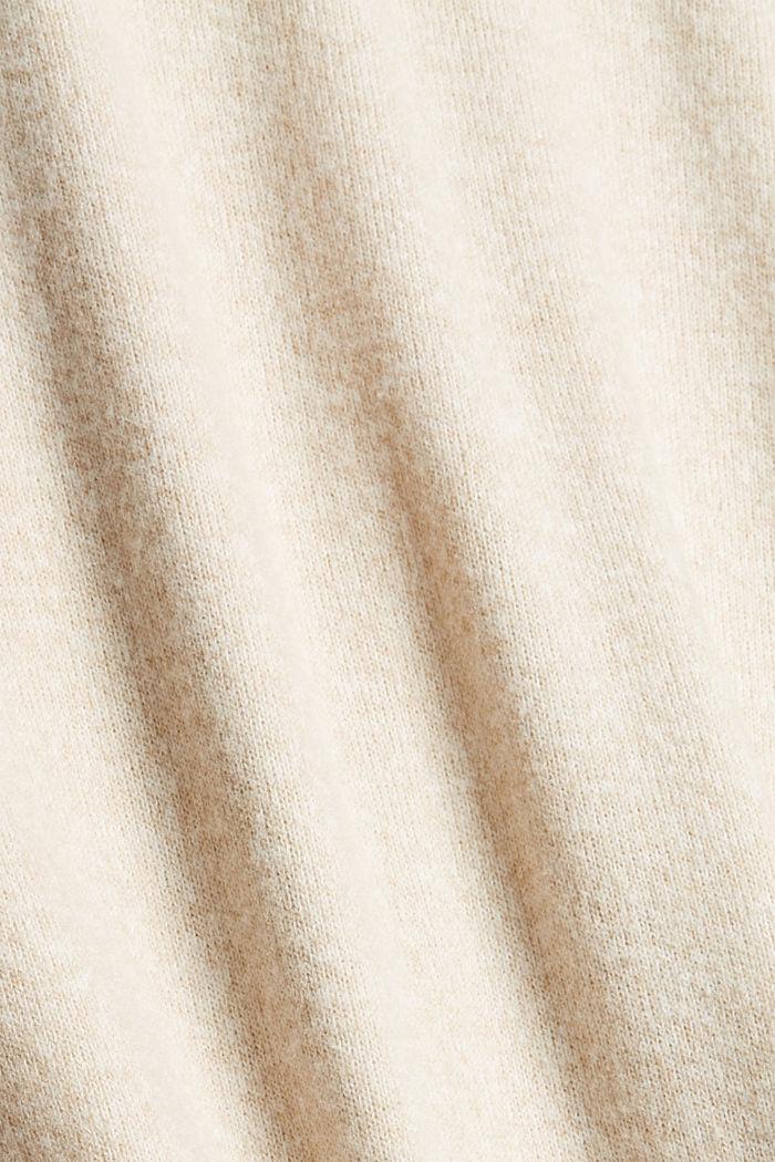 Jupe longueur midi évasée en maille, BEIGE, detail image number 4