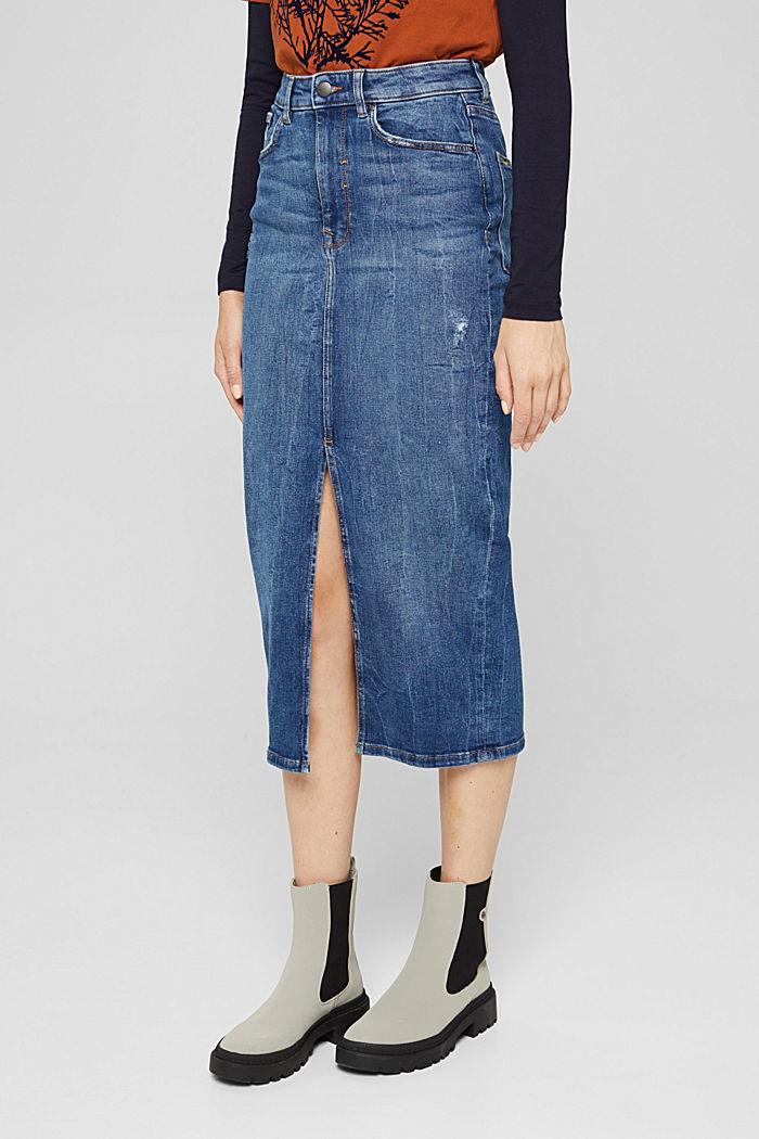 Skirts denim Straight Fit High Rise, BLUE DARK WASHED, detail image number 0