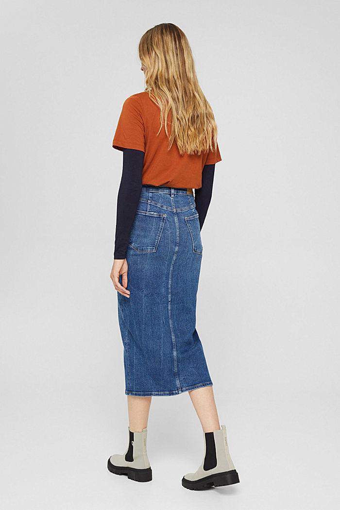 Skirts denim Straight Fit High Rise, BLUE DARK WASHED, detail image number 3
