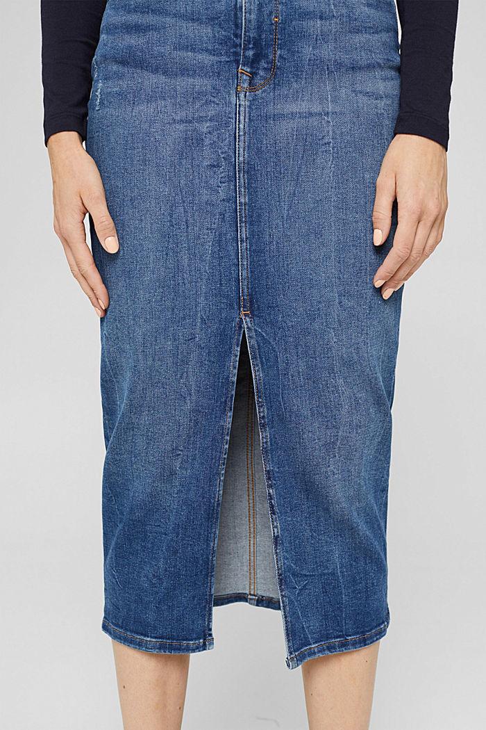 Skirts denim Straight Fit High Rise, BLUE DARK WASHED, detail image number 2