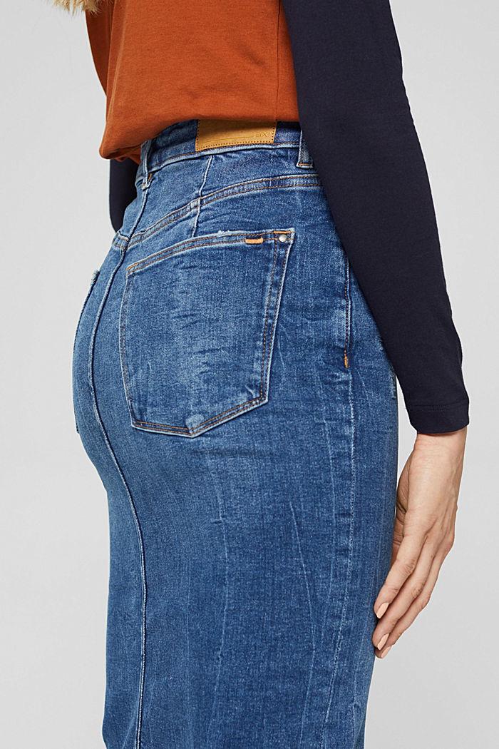 Skirts denim Straight Fit High Rise, BLUE DARK WASHED, detail image number 5