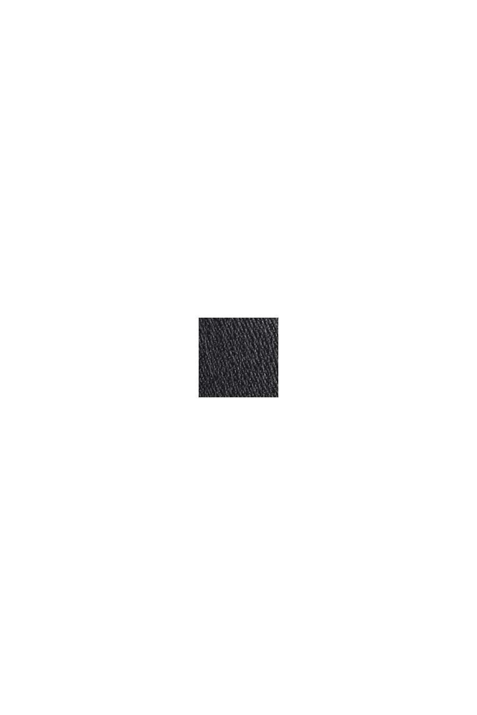 Mini-jupe en similicuir à taille smockée, BLACK, swatch