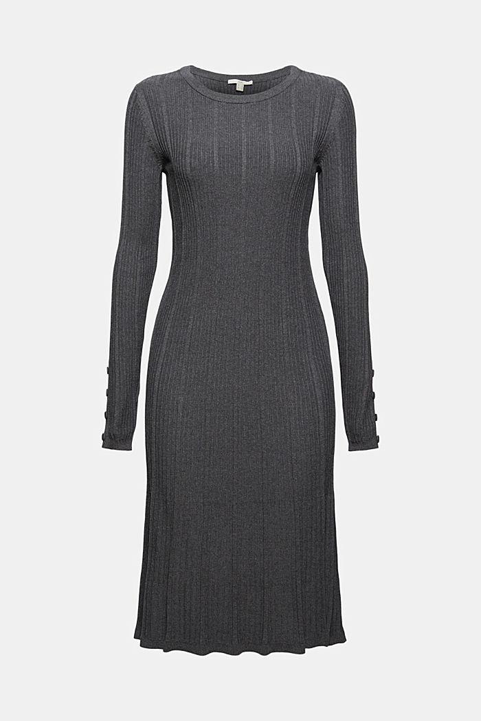 Robe cintrée en maille côtelée, 100% coton