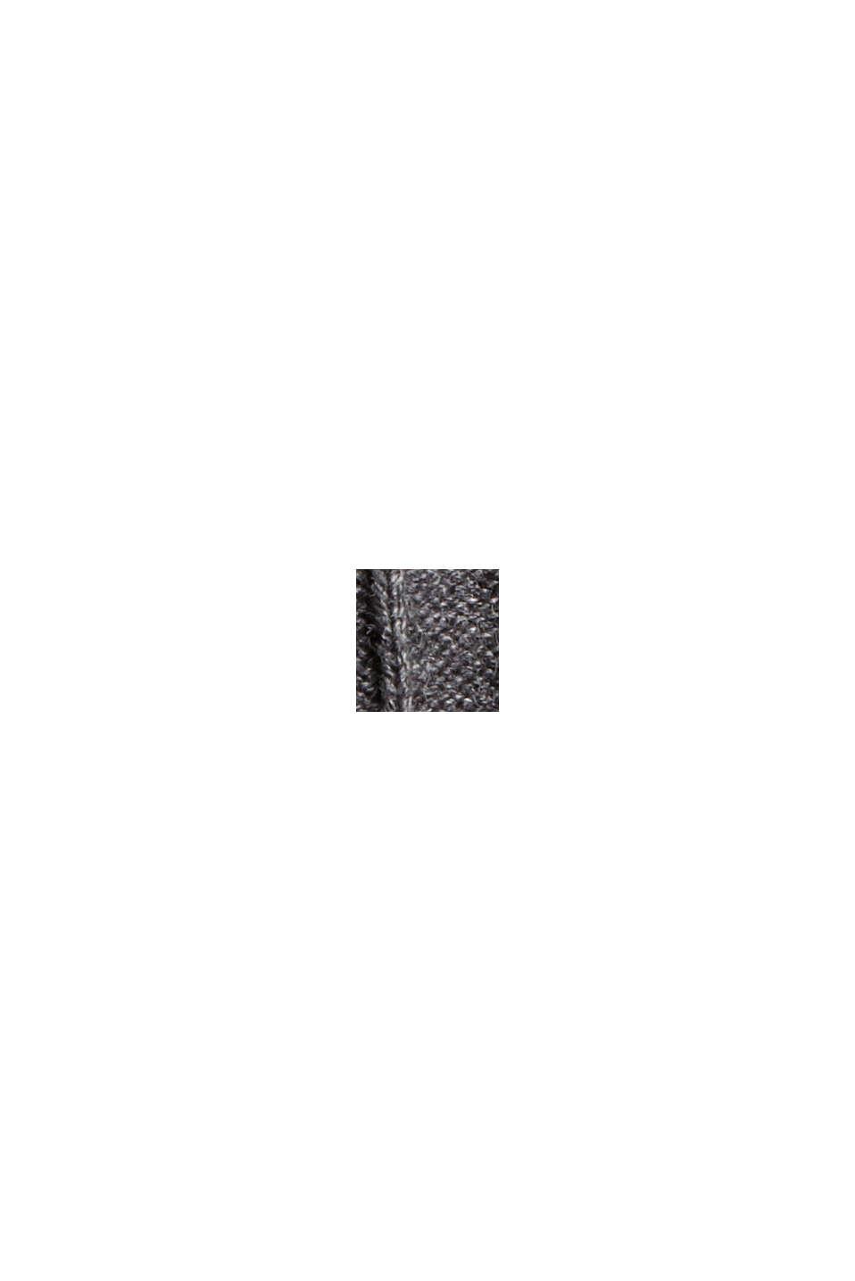 Tailliertes Rippstrick-Kleid, 100% Baumwolle, ANTHRACITE, swatch