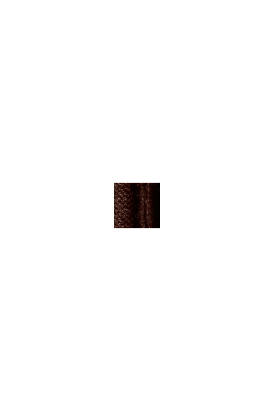 Tailliertes Rippstrick-Kleid, 100% Baumwolle, BROWN, swatch