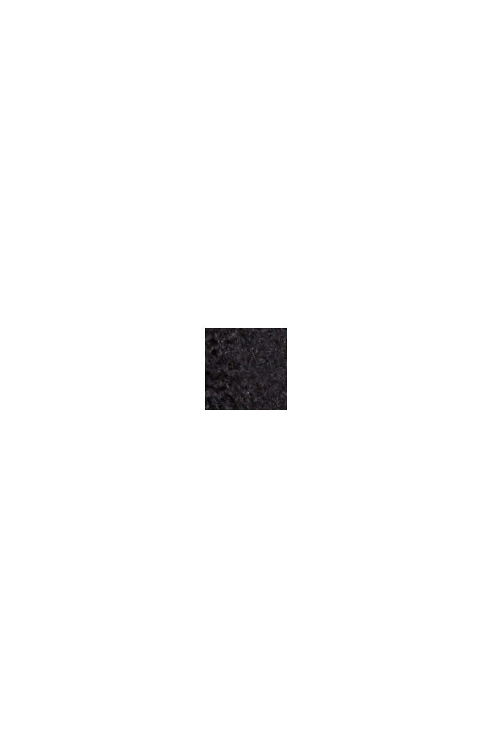 À teneur en laine: la robe-pull à épaules tombantes, BLACK, swatch