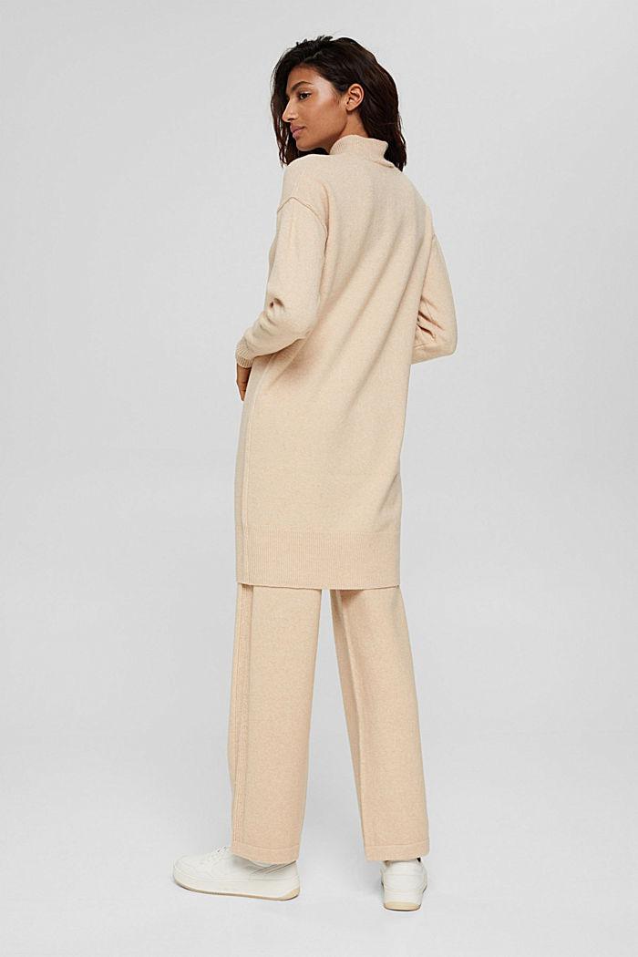 Mit Wolle: Strickkleid mit Drop-down-Schultern, BEIGE, detail image number 2