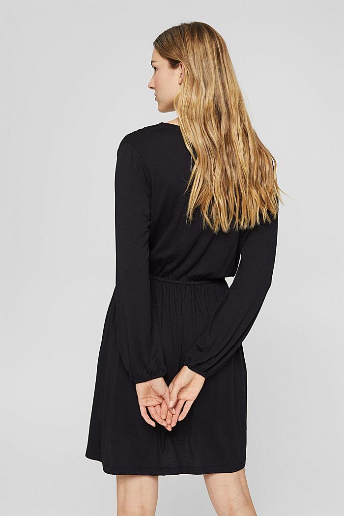 Jerseykleid mit Tasselbändern, LENZING™ ECOVERO™, BLACK, detail image number 2
