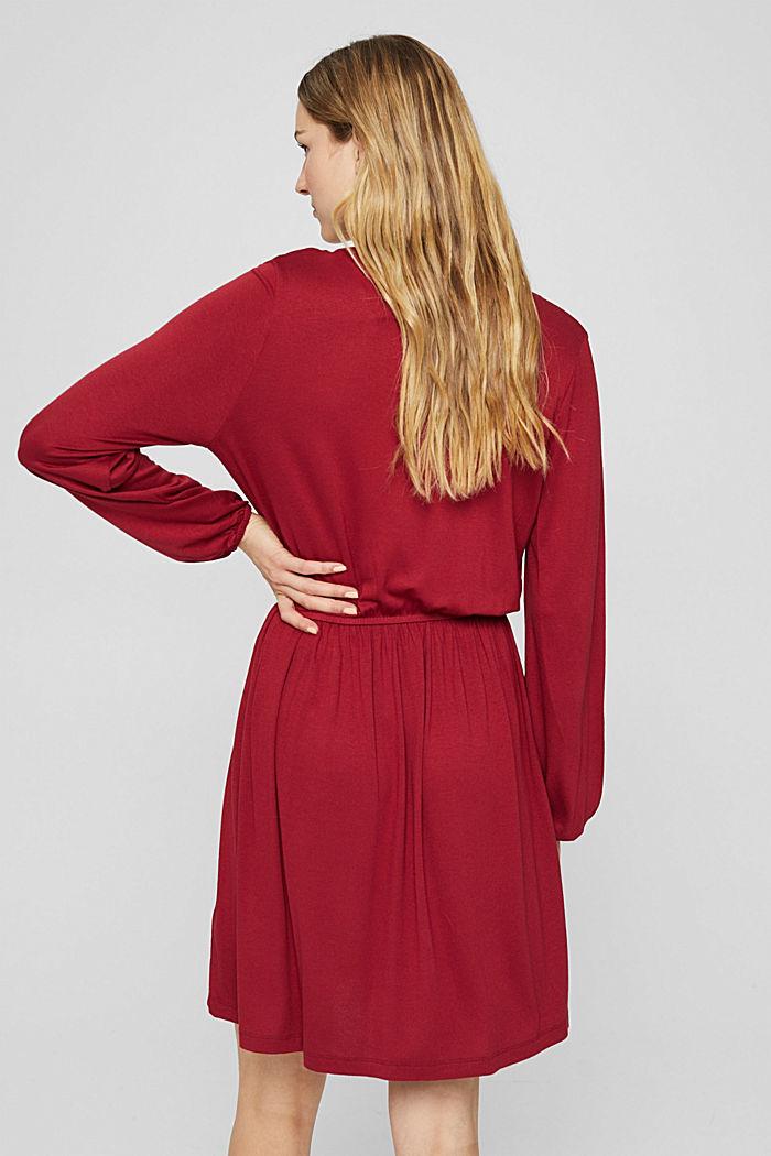 Jerseykleid mit Tasselbändern, LENZING™ ECOVERO™, DARK RED, detail image number 2