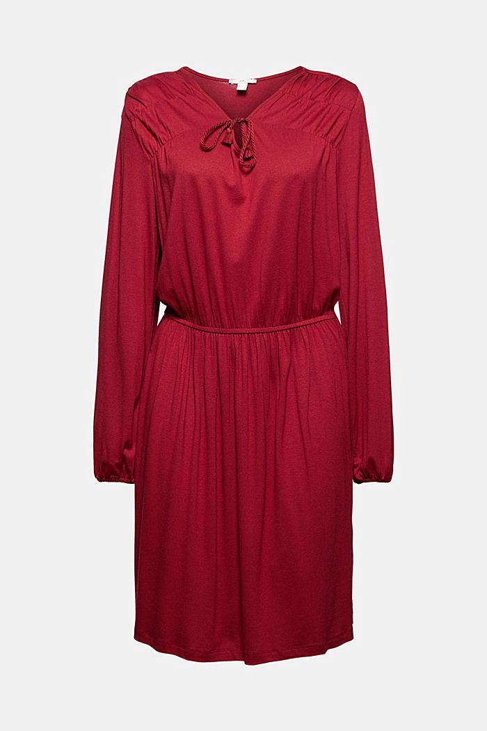 Jerseykleid mit Tasselbändern, LENZING™ ECOVERO™
