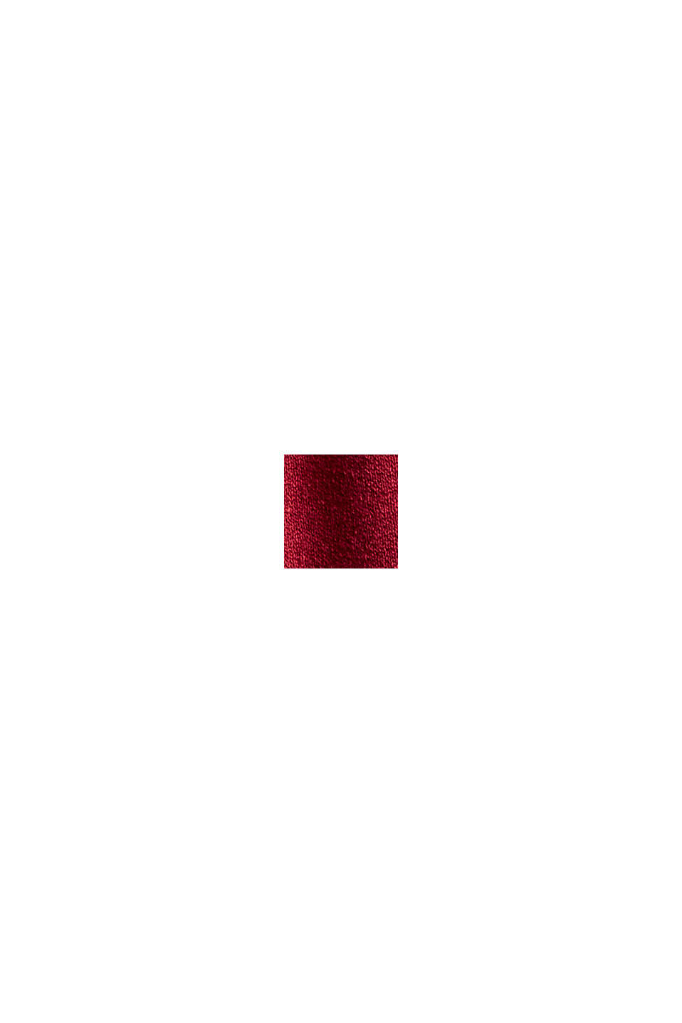 Jerseykleid mit Tasselbändern, LENZING™ ECOVERO™, DARK RED, swatch