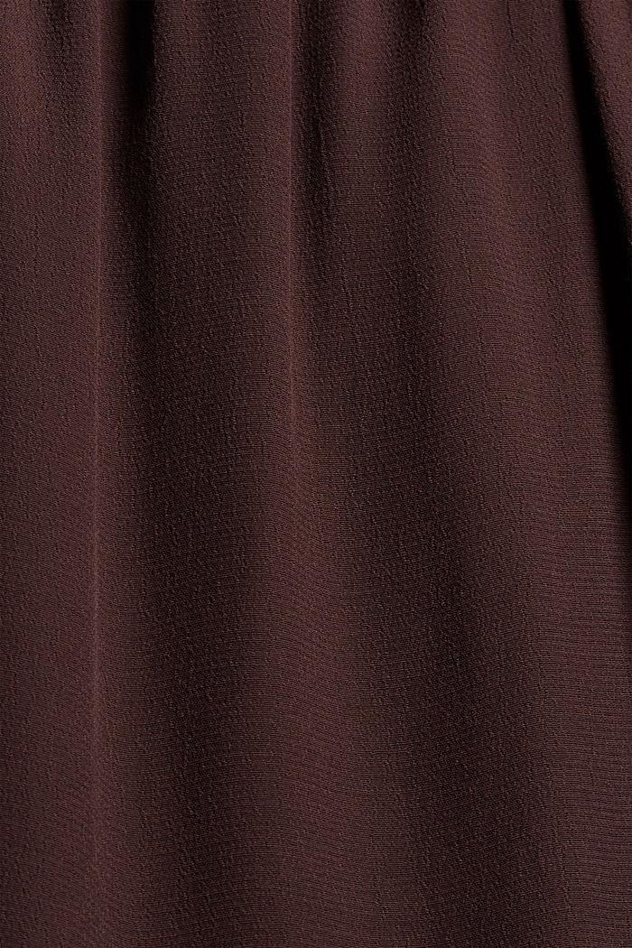 Kleid mit Rüschen, LENZING™ ECOVERO™, BROWN, detail image number 4