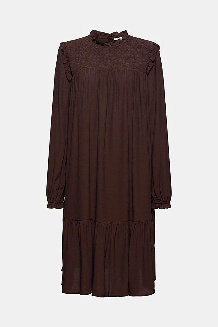 Kleid mit Rüschen, LENZING™ ECOVERO™
