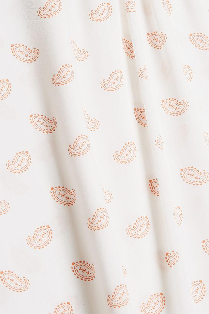 Print-Bluse mit Rüschen, LENZING™ ECOVERO™, OFF WHITE, detail image number 4