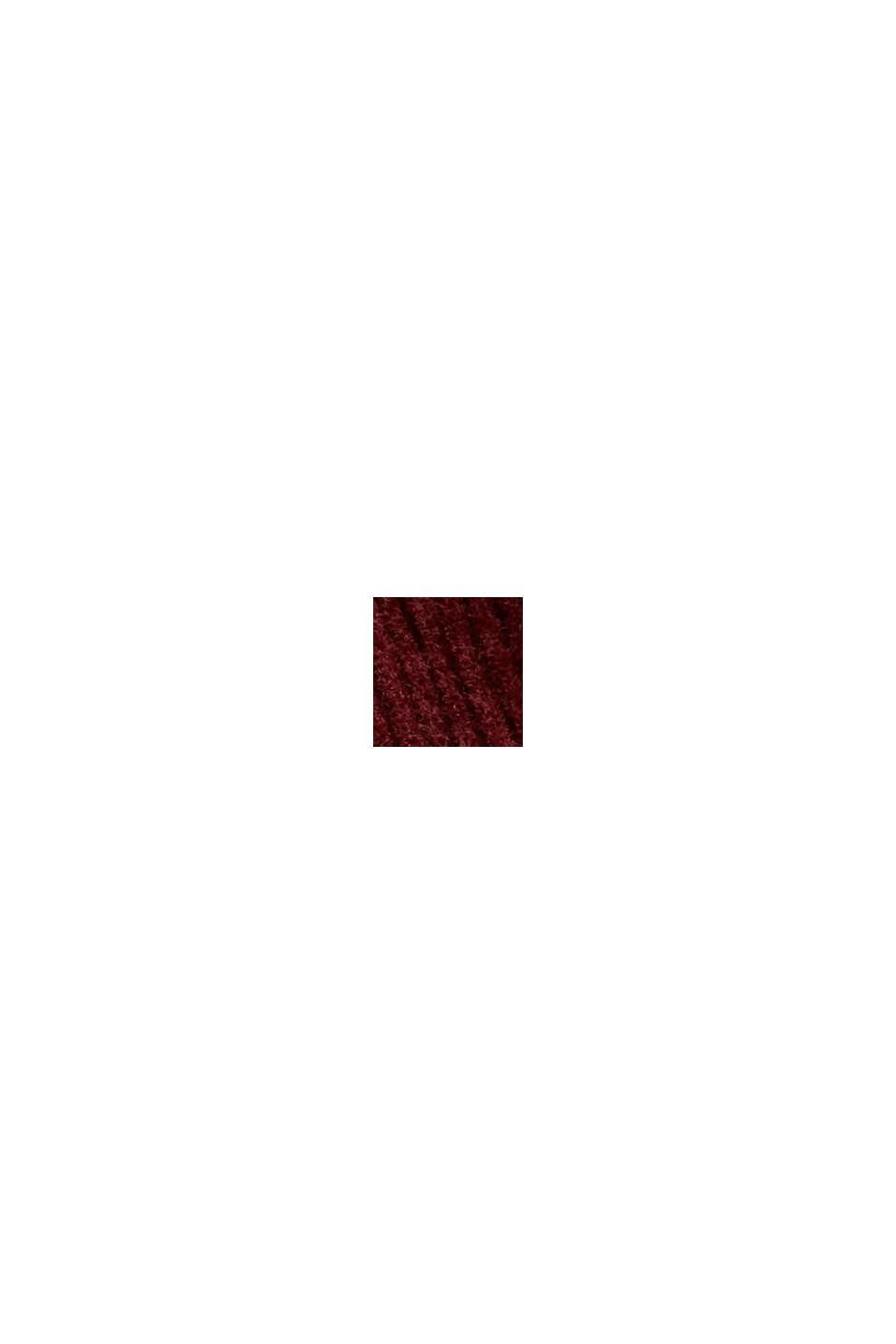 Relaxt geschnittenes Shacket aus Cord, GARNET RED, swatch