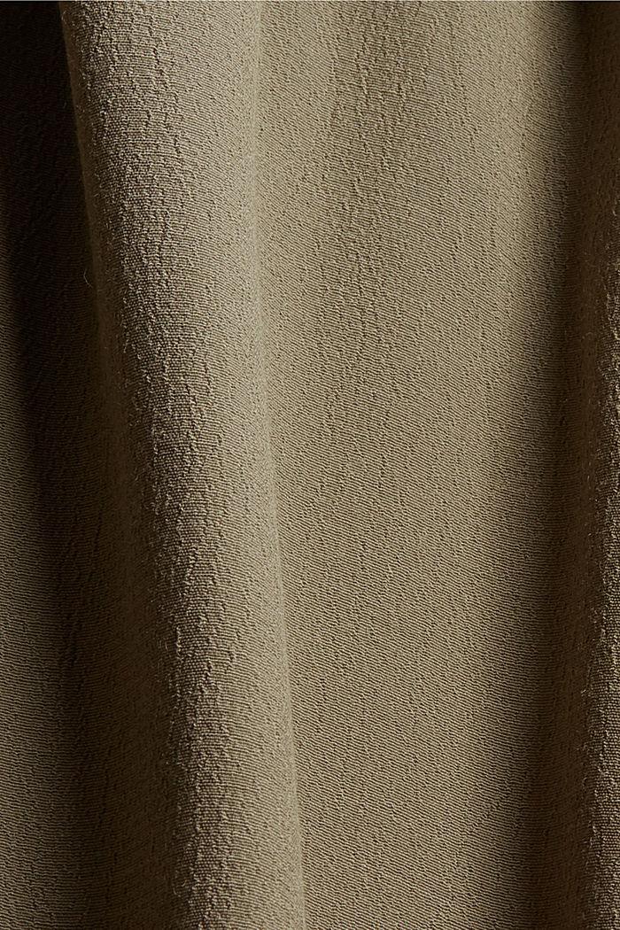 Gesmokte blouse met LENZING™ ECOVERO™, DARK KHAKI, detail image number 4