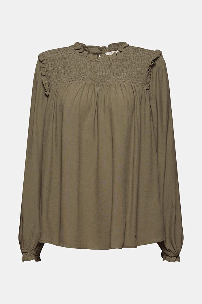Smok-Bluse mit LENZING™ ECOVERO™