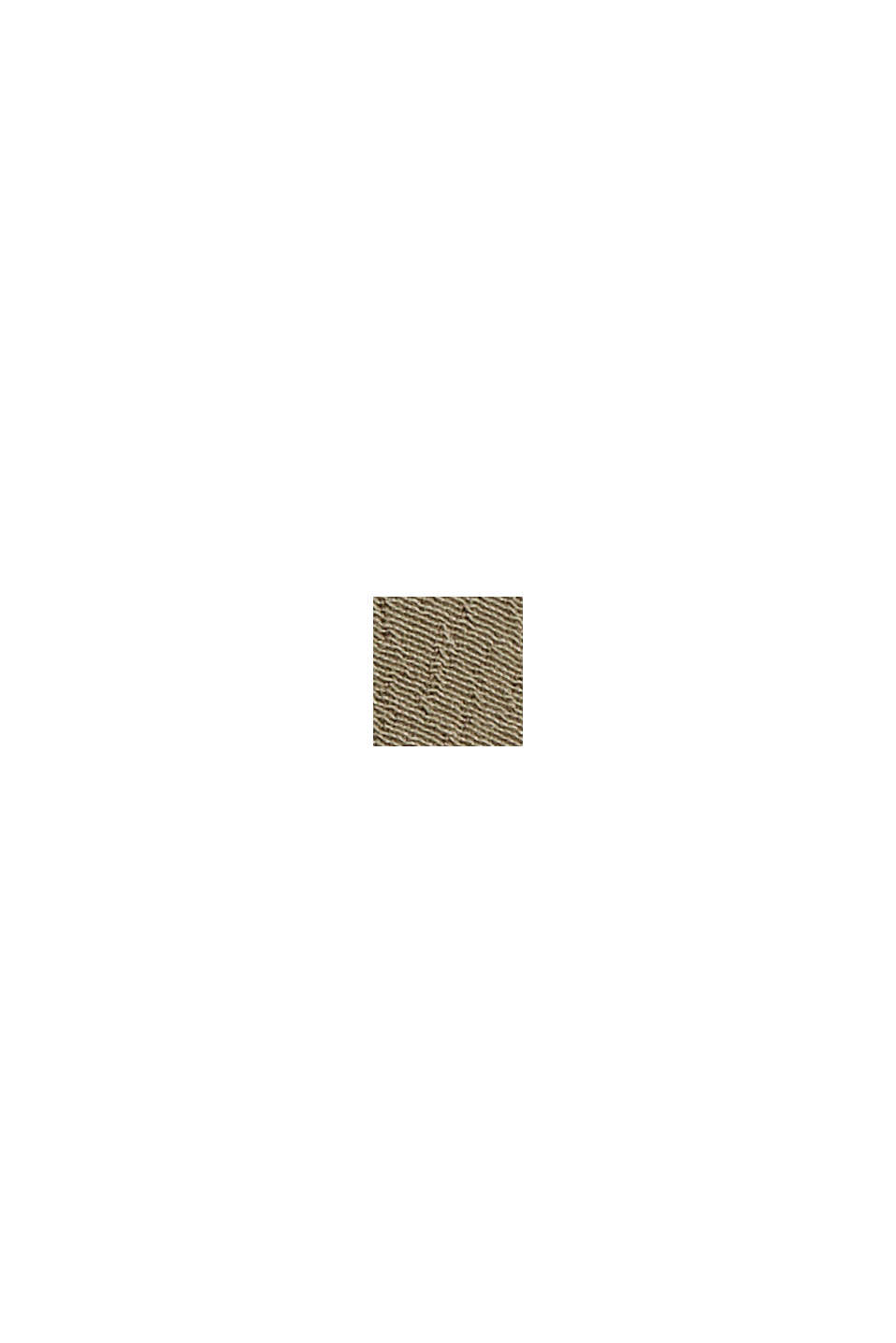 Smok-Bluse mit LENZING™ ECOVERO™, DARK KHAKI, swatch