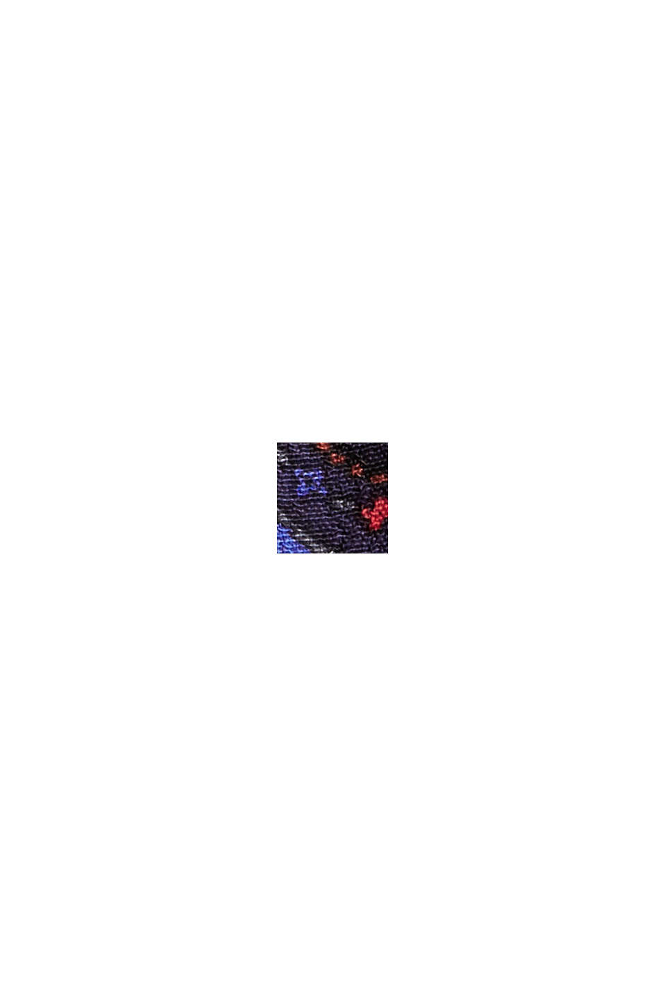 Smok-Bluse mit Paisley-Print, LENZING™ ECOVERO™, NAVY, swatch