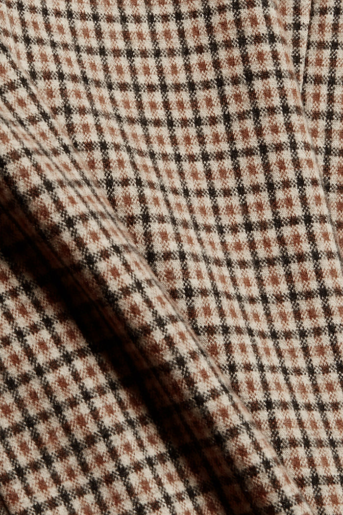 Relaxed check blazer with a flannel texture, BEIGE, detail image number 4