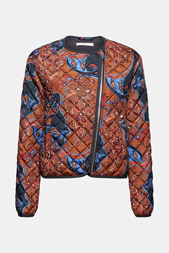 Recycelt: leichte Steppjacke mit Paisleyprint, NAVY, detail image number 6