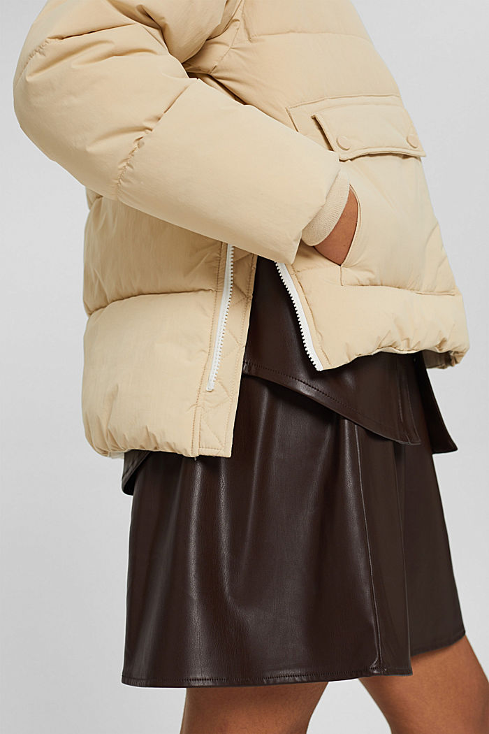 Recycelt: Steppjacke mit Boxy-Fit, BEIGE, detail image number 5