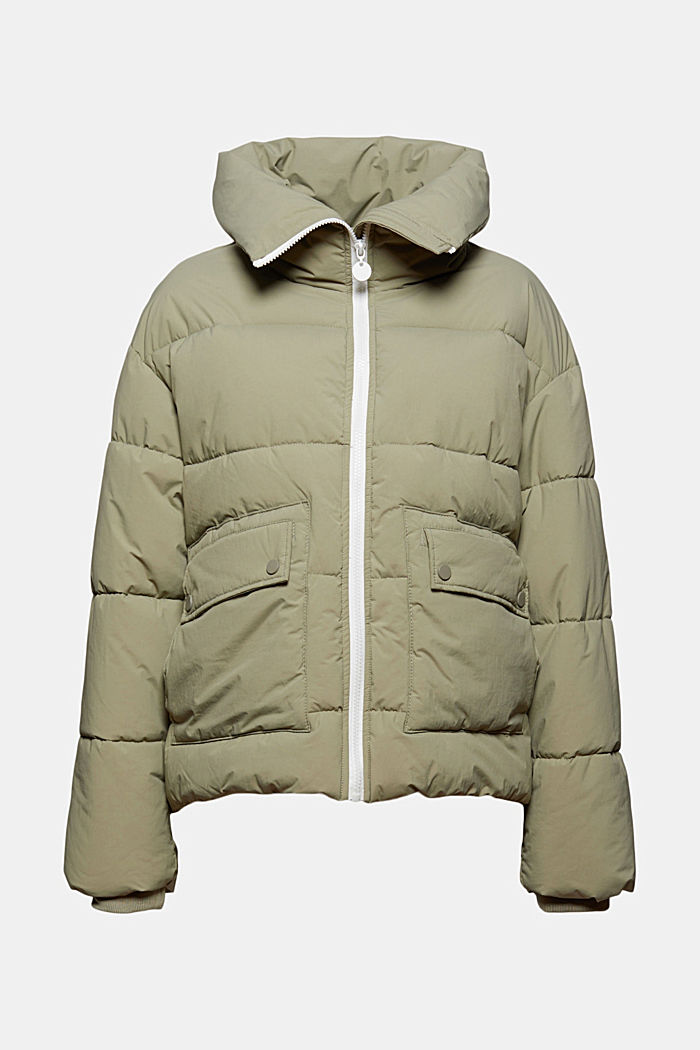 Recycled: quilted jacket in a boxy fit
