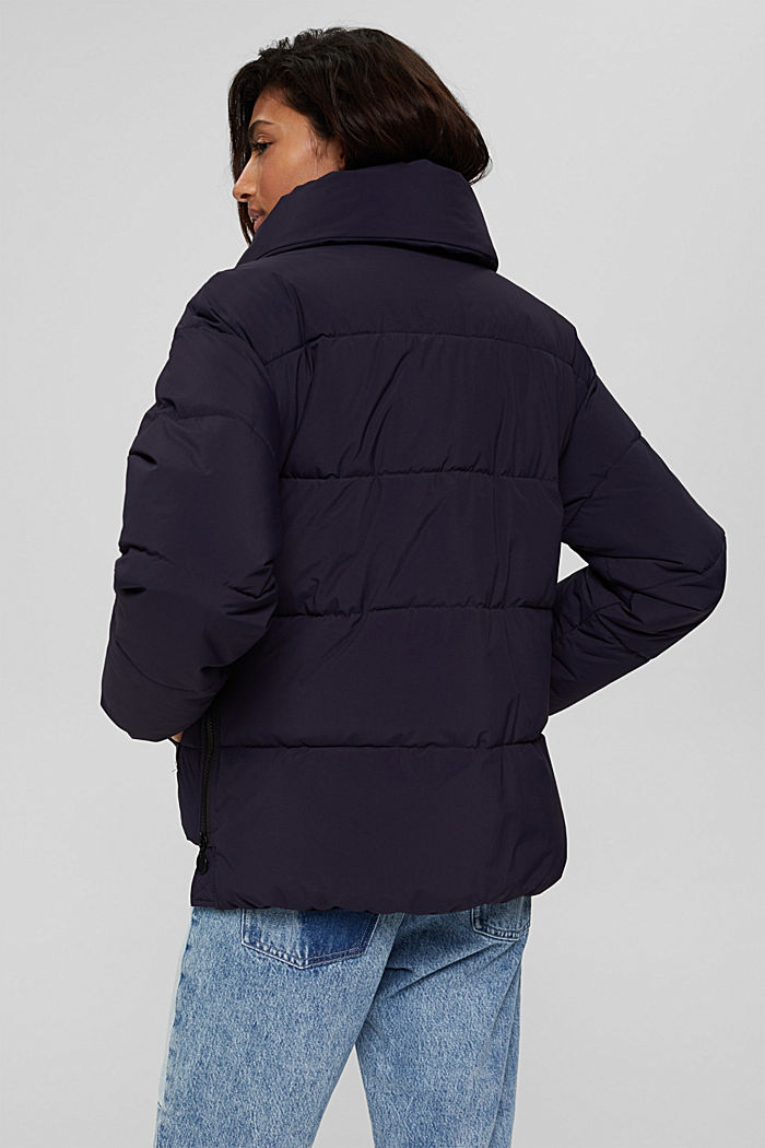Recycelt: Steppjacke mit Boxy-Fit, NAVY, detail image number 3
