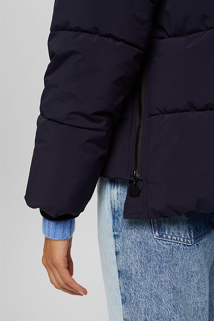 Recycelt: Steppjacke mit Boxy-Fit, NAVY, detail image number 2
