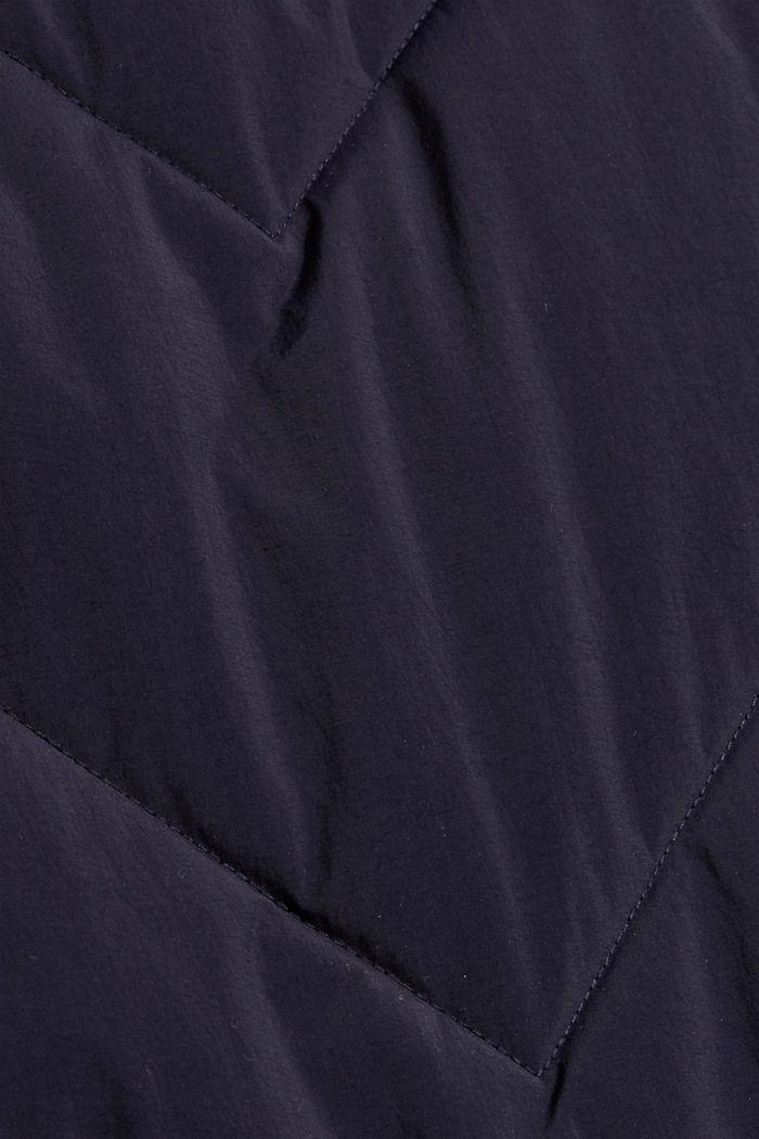 En matière recyclée: le manteau matelassé zippé à la base, NAVY, detail image number 4